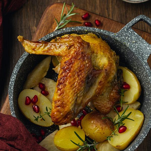 roasted guinea fowl
