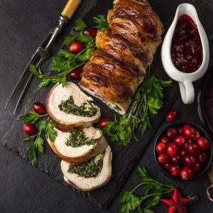 turkey wrapped in bacon