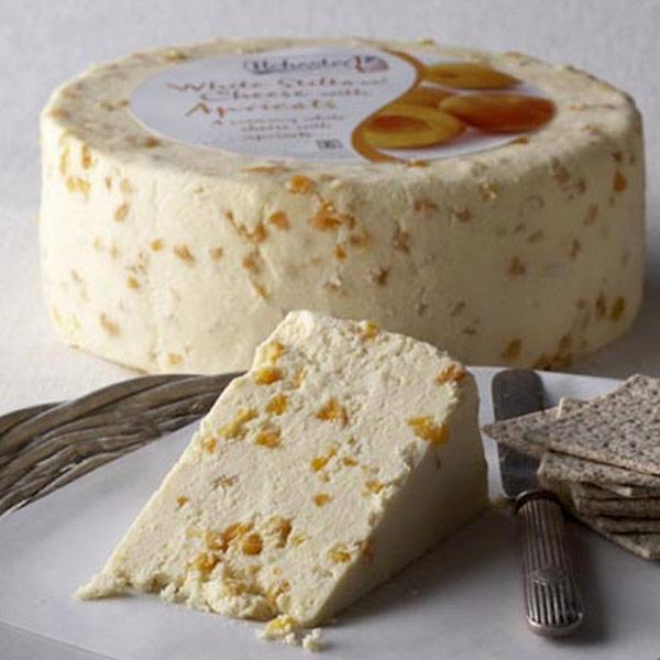 whilte stilton and apricot cheese