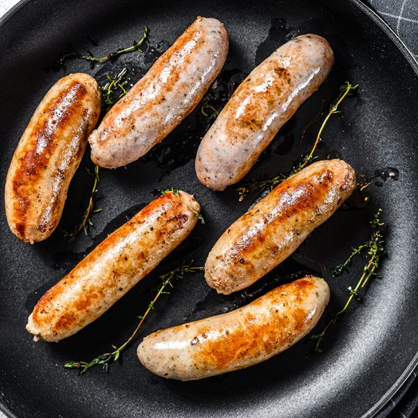 pork and leek sausages